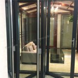 Puerta deslizante BI-Plegable garantizada calidad del aluminio doble del vidrio Tempered
