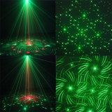 Luce laser dell'interno della fase della discoteca di verde di natale della Singolo-Testa
