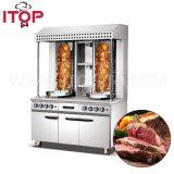 Acier inoxydable Shawarma électrique avec le matériel utilisé par restaurant de cuisine de Module