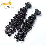 Preço de fábrica Alimina extensões indianas do cabelo de um Remy de 22 polegadas