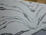 Светотеневым слябы Calacatta проектированные кварцем каменные