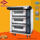 3-Deck 6-Tray Gas-Ofen für Bäckerei von der realen Fabrik seit 1979