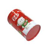 Runder Münzen-Bank-Süßigkeit-Zinn-Verpackungs-Kasten