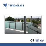 8/10/12mm hanno glassato il vetro Tempered inciso acido di vetro Tempered per le balaustre, corrimani. Ufficio