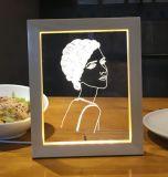 Изготовленный на заказ творческий свет светильника 3D СИД для подарка дня рождения