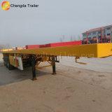 반 40FT 거위 목 모양의 관 평상형 트레일러 콘테이너 트레일러