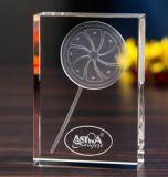 Cubo de cristal do campeão com gravura do laser 3D