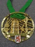 Изготовленный на заказ античным покрынное серебром медаль сублимации