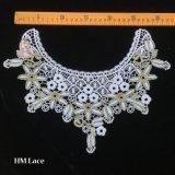 35*28см цветок вышивка шее костюм декор швейных Applique Craft воротник кружевной кузова Водорастворимые Hme929