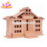 Замок нового самого горячего здания 300 PCS воспитательного деревянный преграждает игру установленную для малышей W13D161