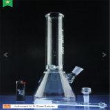 De pijp Rokende Waterpijp van de Basis van de Beker van het Glas van Hisi met het Snuifje van het Ijs (S-GB-098)