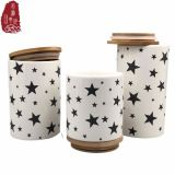 3サイズ600 900 1100ml陶磁器の小さなかん帽子が付いている台所のための一定キャンデーの茶瓶