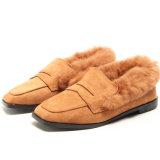 겨울 동안 Shoes 새로운 디자인 편평한 온난한 숙녀
