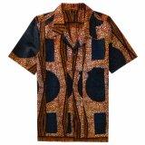디자인 남자를 위한 짧은 소매 셔츠를 인쇄하는 도매 면 아프리카 왁스
