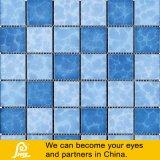 Forma de onda do mosaico cerâmico para piscina 6mm mistura azul