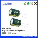 De mini Lage Elektrolytische Condensatoren van de Impedantie 22UF 16V