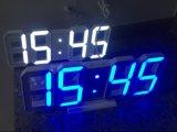 3D 밤 최빈값을%s 가진 파란 LED 디지털 벽시계