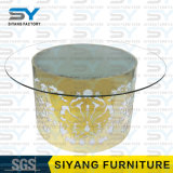 Tableaux en verre ronds de Tableau dinant de meubles de salle à manger pour des mariages