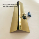 Venda a quente de aço inoxidável em forma de L Perfil de ângulo do Traço fino acabamento ou espelhar