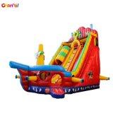 عملاقة قابل للنفخ قرصان سفينة منزلق قابل للنفخ ييقفز منزلق