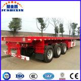 40 pieds 3 essieux lit méplat conteneur semi-remorque