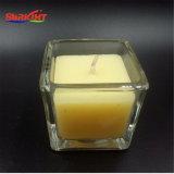 Jarra de cristal Muti-Colored velas de cera de soja