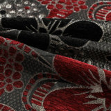 Новая ткань синеля черного и красного красивейшего цветка форменный