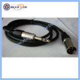Draad XLR met geringe geluidssterkte van de Kabel van de Microfoon Beschermde Audio de 2core in Massa