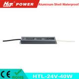 fonte de alimentação Htl do interruptor do transformador AC/DC do diodo emissor de luz de 24V 1.5A 40W
