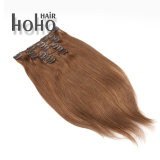 Prix bon marché tirées Brown 20 pouces Double clip dans l'extension de cheveux