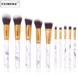 10pcs marbre Maquillage professionnel Jeu de balais
