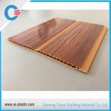 teto do PVC do sulco da largura de 20cm e painel de parede médios com projeto de madeira e caraterística à prova de fogo
