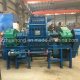 Déchets de plastique utilisé des machines de recyclage de pneus en caoutchouc / Double destructeur de l'arbre /les pneus de camion Shredder