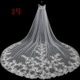 卸売3.5メートル長いベールの柔らかいテュルの花嫁のショールのベール