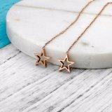 2017の割引新しいデザインステンレス鋼の金によってめっきされる星のイヤリング
