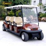 6つのシートのBronzerカラーセリウムの証明書が付いている電気ゴルフカート
