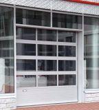 알루미늄 투명한 부분적인 머리 위 차고 문