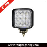 De auto Lichten van het Werk van de Vorkheftruck van de Verlichting 4 Vierkante leiden CREE van de Duim 27W