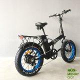 大きい力の高速脂肪質のタイヤ4.0の雪浜の電気Foldableバイク