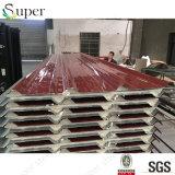 20mm単一の側面の鋼鉄カバーPUサンドイッチ屋根のパネル