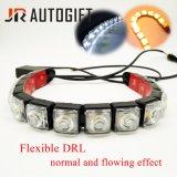 Zwei der Farben-DRL weißer gelber Streifen Drehung-Signal-Licht-flüssiger des Effekt-LED