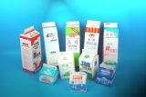 Cadre de papier d'impression et d'empaquetage, modèle de carton de lait, carton fait sur commande de lait