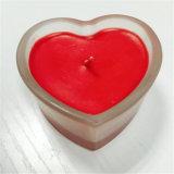 Aroma Rosa roja vela con soporte de cristal Corazón Set de regalo