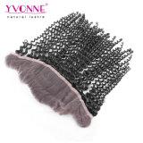 Yvonne-malaysische verworrene lockige Spitze-frontales Schliessen 13.5 X Haar 4