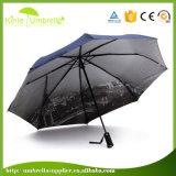 Het goedkoopste Handboek opent 3 Vouwende LEIDENE van de Bevordering Paraplu