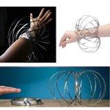 3D-Поток звонков браслет из нержавеющей стали Волшебное кольцо пружины декомпрессии игрушки