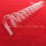 Tubo a spirale del quarzo trasparente