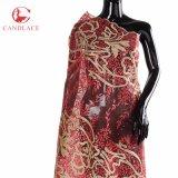 Nuovo commercio all'ingrosso del tessuto del merletto di Tulle di arrivo per la cerimonia nuziale o la celebrazione