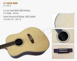 Instrumento musical de la guitarra acústica superior sólida de la fábrica de Aiersi (SG02SR)