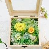 2017 flores preservadas decorativas naturales frescas de los nuevos productos en rectángulo